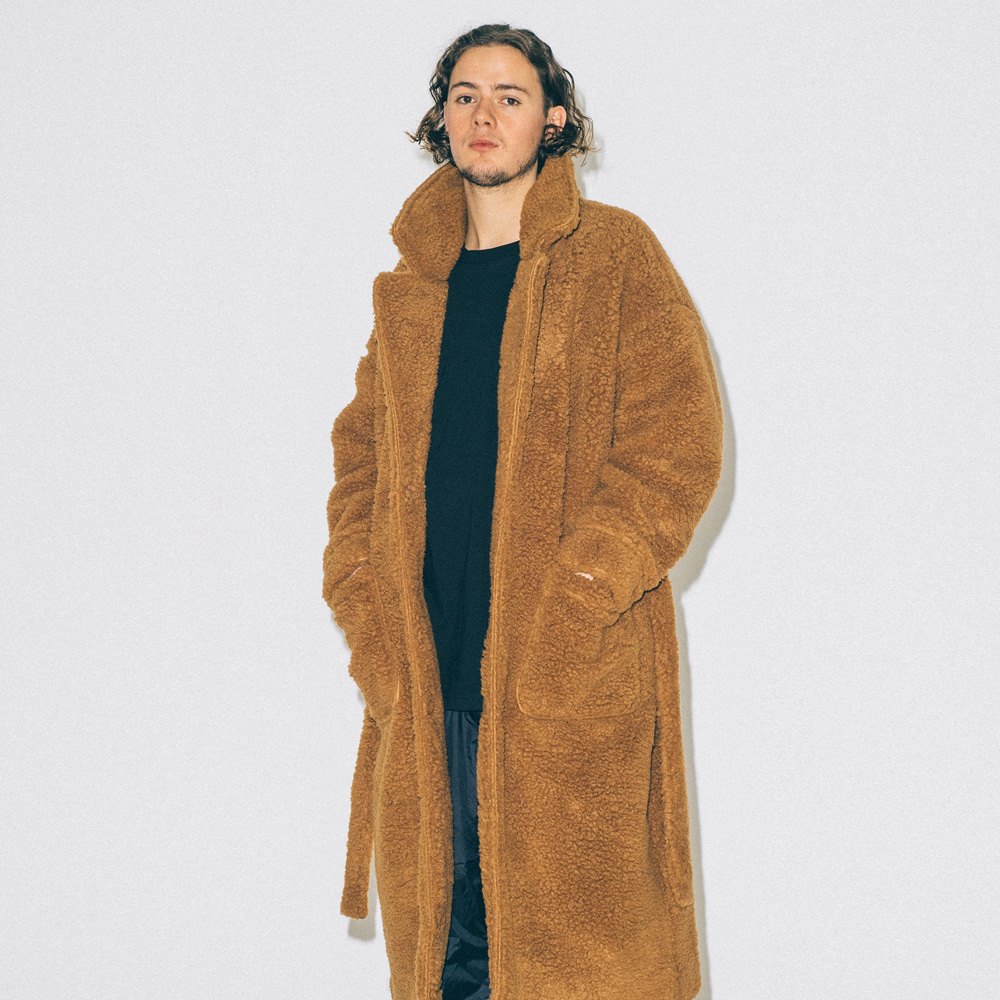 PROMPTER X BUND - Ted Shearing Coat Brown