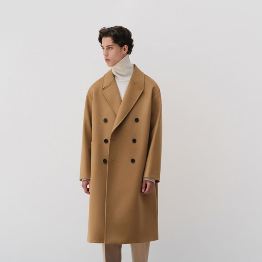 IN SILENCE X BUND - Explorer Double Coat Camel