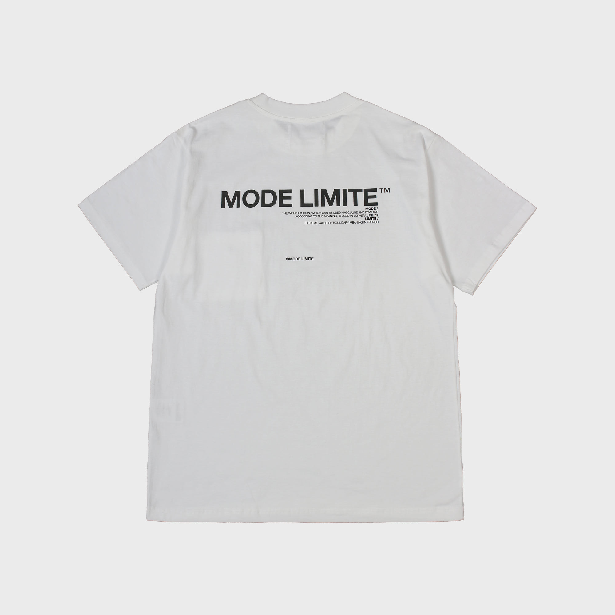 Mle Logo Pocket 1/2 T White