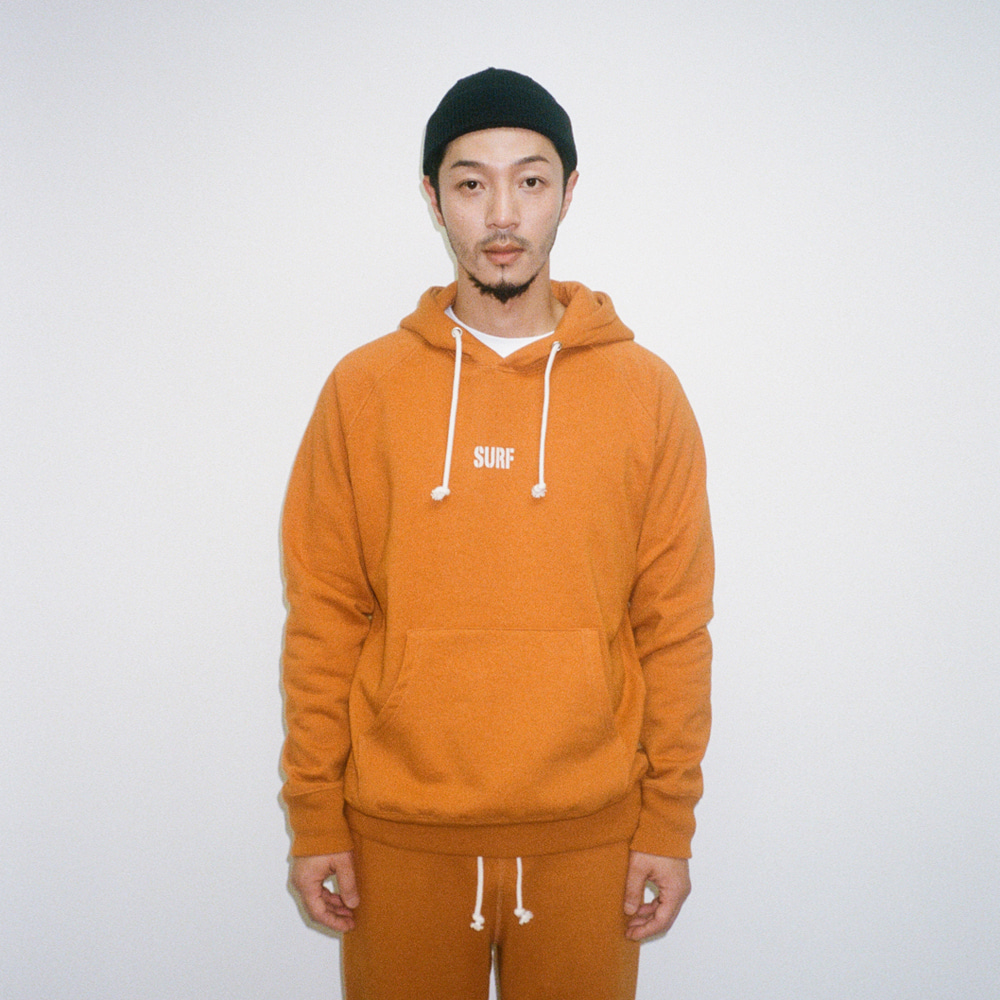 BIG UNION X BUND - Let Us SURF Pullover Hood Orange