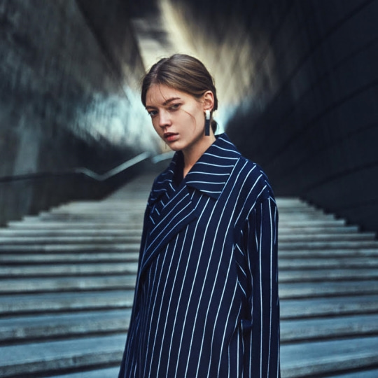 BUND - Ange Pin Stripe Navy