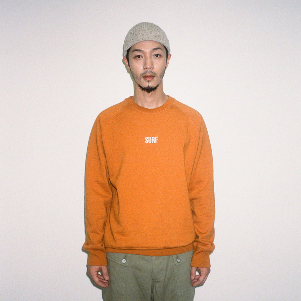BIG UNION X BUND - Let Us SURF Sweat Crew Orange