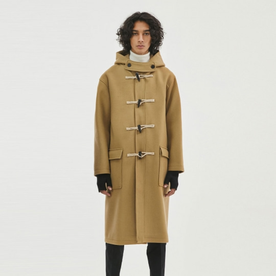 THE T-SHIRT MUSEUM X BUND - Trier Duffle Coat Camel