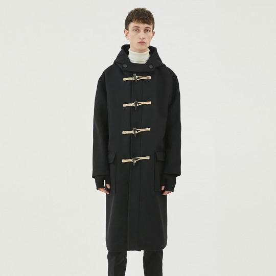 THE T-SHIRT MUSEUM X BUND - Trier Duffle Coat Black
