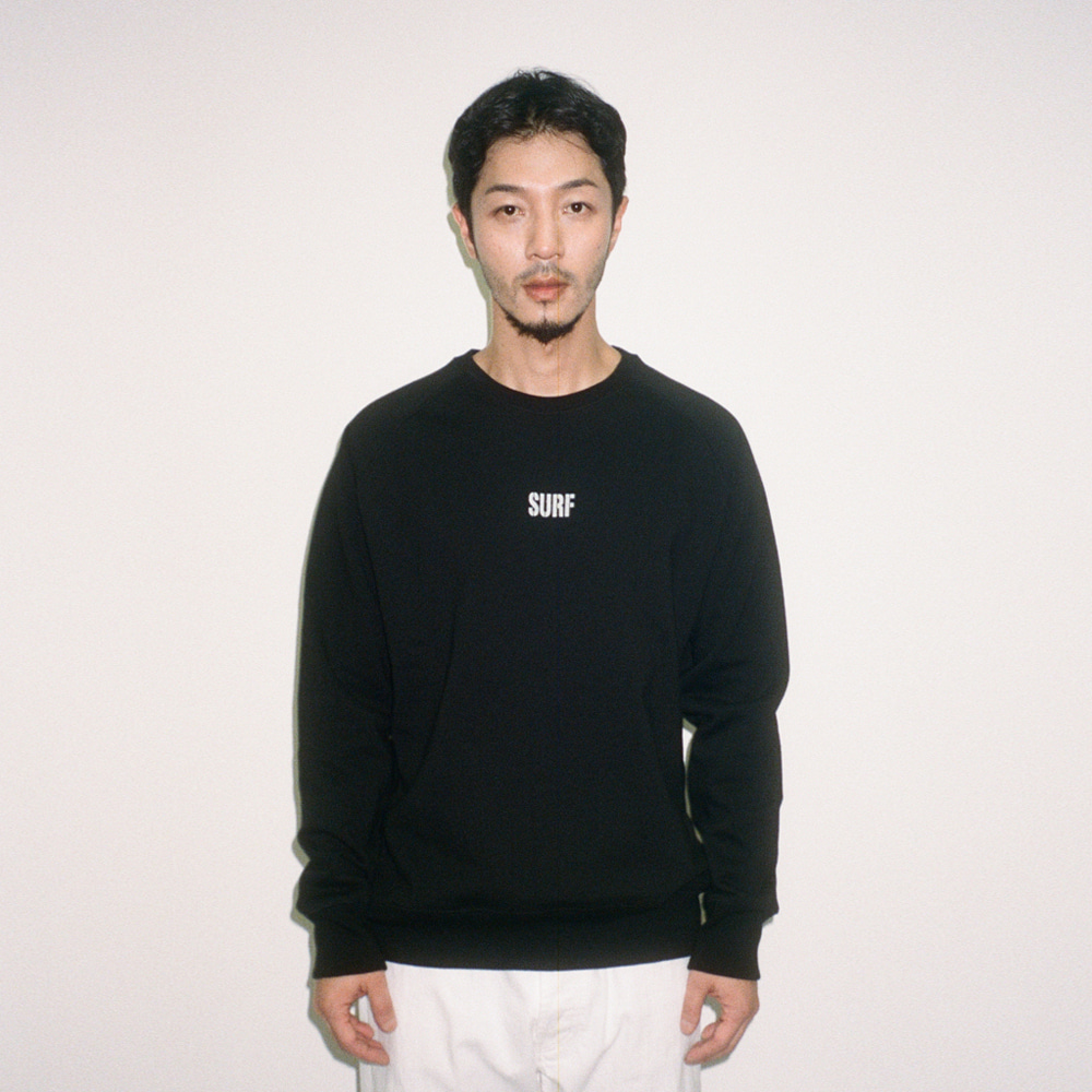 BIG UNION X BUND - Let Us SURF Sweat Crew Black