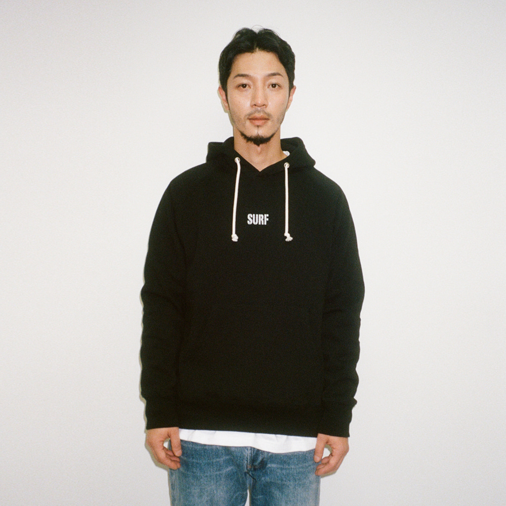 BIG UNION X BUND - Let Us SURF Pullover Hood Black